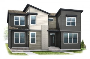 WP-IRIS 1 - Eichler F2 Elevation - 1,516 sqft, 3 Bedroom, 2.5 Bathroom - Cardel Homes Calgary
