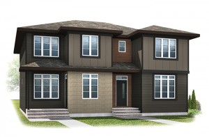 WP-IRIS 1 - Modern Prairie F3 Elevation - 1,516 sqft, 3 Bedroom, 2.5 Bathroom - Cardel Homes Calgary
