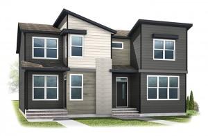 WP-SOHO 1 - Eichler F2 Elevation - 1,214 sqft, 3 Bedroom, 2.5 Bathroom - Cardel Homes Calgary