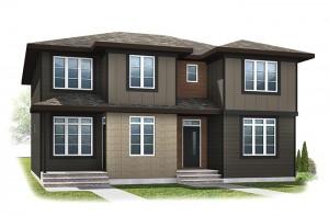 WP-SOHO 1 - Modern Prairie F3 Elevation - 1,214 sqft, 3 Bedroom, 2.5 Bathroom - Cardel Homes Calgary