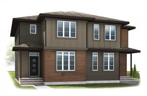 WP-SOHO 2 - Modern Prairie F6 Elevation - 1,214 sqft, 3 Bedroom, 2.5 Bathroom - Cardel Homes Calgary