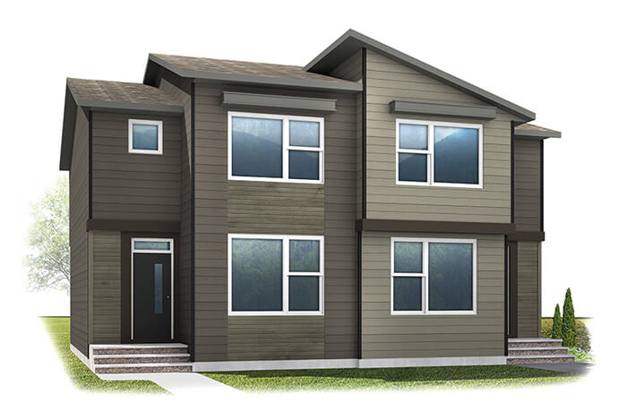 WP-SOHO 3 - Eichler F5 Elevation - 1,201 sqft, 3 Bedroom, 2.5 Bathroom - Cardel Homes Calgary