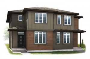 WP-SOHO 3 - Modern Prairie F6 Elevation - 1,201 sqft, 3 Bedroom, 2.5 Bathroom - Cardel Homes Calgary