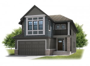 Preston - Shingle S1 Elevation - 2,422 sqft, 4 Bedroom, 2.5 Bathroom - Cardel Homes Calgary