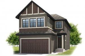 SIMCOE-SP2016 - Shingle S1 Elevation - 2,682 sqft, 4 Bedroom, 3.5 Bathroom - Cardel Homes Calgary