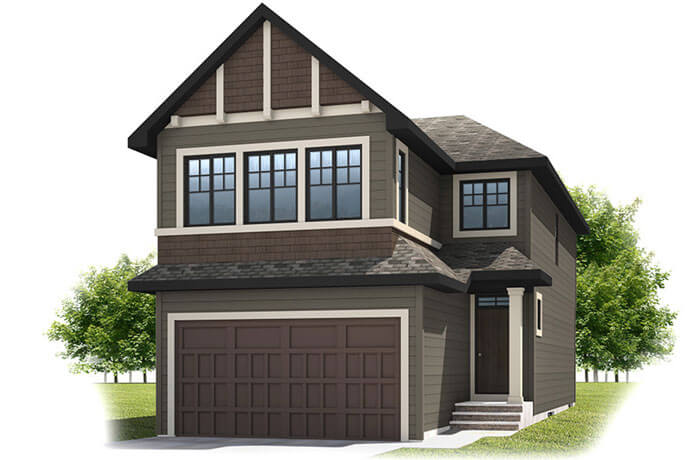 New Calgary Single Family Simcoe Model in Shawnee Park built By Cardel Homes