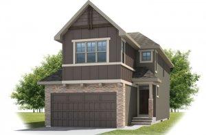 SIMCOE-SP2016 - Rustic S2 Elevation - 2,682 sqft, 4 Bedroom, 3.5 Bathroom - Cardel Homes Calgary