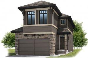 SIMCOE-SP2016 - Prairie S3 Elevation - 2,682 sqft, 4 Bedroom, 3.5 Bathroom - Cardel Homes Calgary