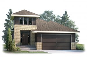 ASPENS3-1205 Elevation - 1,531 sqft, 3 Bedroom, 2.5 Bathroom - Cardel Homes Calgary
