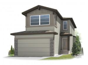 Sandhurst 2 - Modern Prairie F1 Elevation - 1,839 sqft, 3 Bedroom, 2.5 Bathroom - Cardel Homes Calgary