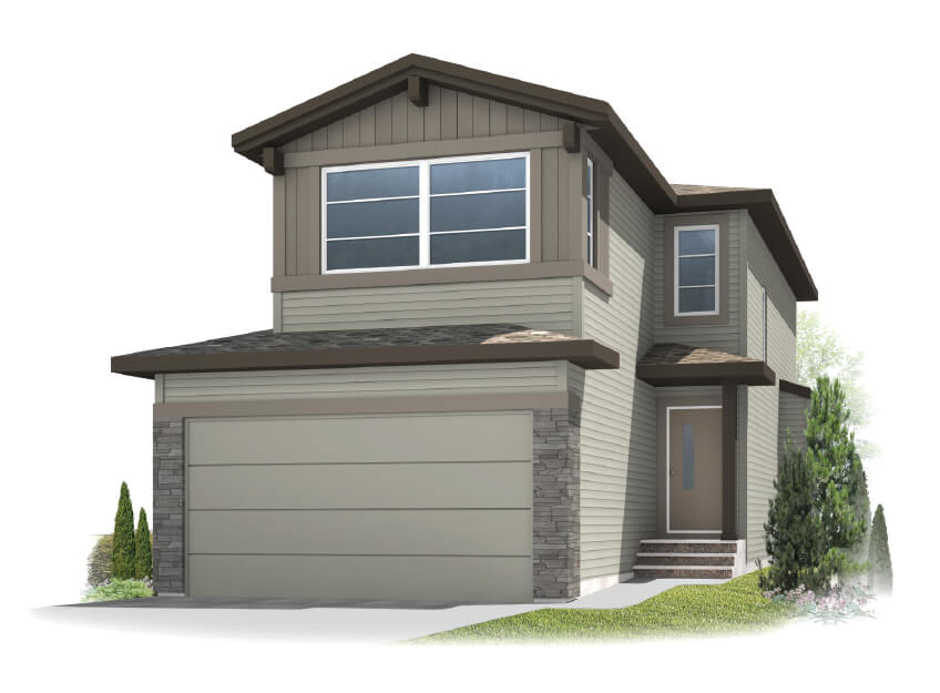 Sandhurst 2 - Modern Prairie F1 Elevation - 1,839 sqft, 3 Bedroom, 2.5 Bathroom - Cardel Homes Calgary