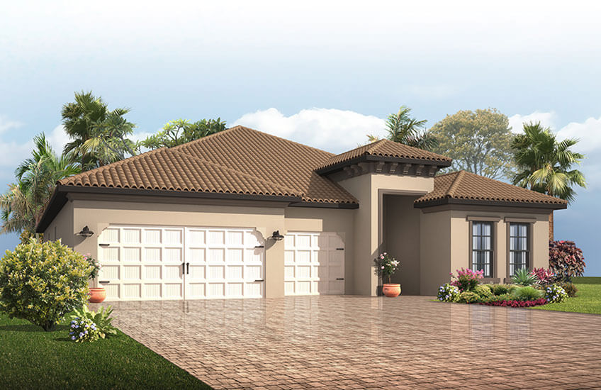 New Tampa Single Family Home Quick Possession Endeavor 3 in Lakewood Ranch, located at 14216 Woodhall Place<br />