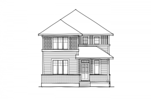 Kingston Court - A1 Canadiana Elevation - 1,907 sqft, 3 Bedroom, 2.5 Bathroom - Cardel Homes Ottawa