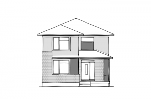 Kingston Court - A3 Urban Elevation - 1,907 sqft, 3 Bedroom, 2.5 Bathroom - Cardel Homes Ottawa