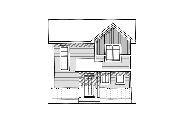 Stockton Court - A1 Canadiana Elevation - 1,816 sqft, 3 Bedroom, 2.5 Bathroom - Cardel Homes Ottawa