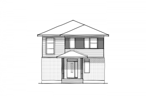 Stockton Court - A3 Urban Elevation - 1,816 sqft, 3 Bedroom, 2.5 Bathroom - Cardel Homes Ottawa