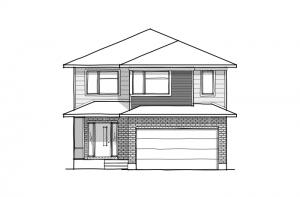 Laurier - A3 Urban Elevation - 2,615 sqft, 4 Bedroom, 2.5 Bathroom - Cardel Homes Ottawa