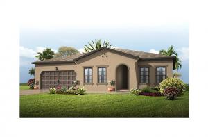 Valiant - Mediterranean Elevation - 2,414 sqft, 4 Bedroom, 2 Bathroom - Cardel Homes Tampa