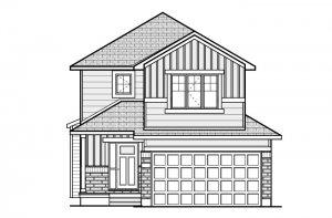 BS-BILLINGS-A1 Elevation - 1,755 sqft, 3 - 4 Bedroom, 2.5 - 3.5 Bathroom - Cardel Homes Ottawa