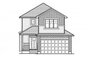 BS-BILLINGS-A2 Elevation - 1,755 sqft, 3 - 4 Bedroom, 2.5 - 3.5 Bathroom - Cardel Homes Ottawa