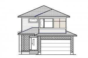 BS-BILLINGS-A4 Elevation - 1,755 sqft, 3 - 4 Bedroom, 2.5 - 3.5 Bathroom - Cardel Homes Ottawa