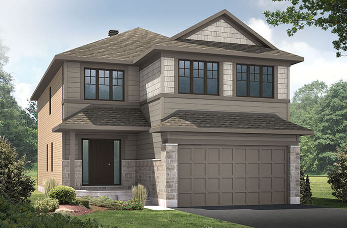 New home in LAURIER in Blackstone in Kanata South, 2,615 SQFT, 4 Bedroom, 2.5 Bath, Starting at  - Cardel Homes Ottawa