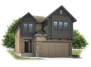 Sitka - Shingle S1 Elevation - 2,234 sqft, 3 Bedroom, 2.5 Bathroom - Cardel Homes Calgary
