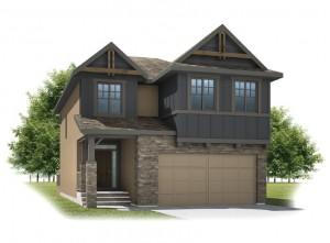 Sitka - Rustic S2 Elevation - 2,234 sqft, 3 Bedroom, 2.5 Bathroom - Cardel Homes Calgary