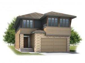 Sitka - Prairie S3 Elevation - 2,234 sqft, 3 Bedroom, 2.5 Bathroom - Cardel Homes Calgary