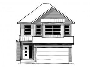 Senna - Urban Farmhouse A2 Elevation - 2,315 sqft, 3 Bedroom, 2.5 Bathroom - Cardel Homes Calgary