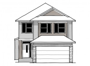 Senna - Urban Craftsman A1 Elevation - 2,315 sqft, 3 Bedroom, 2.5 Bathroom - Cardel Homes Calgary