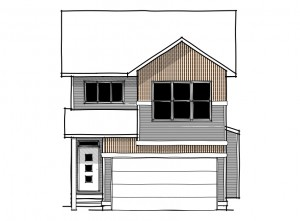 Sabal 3 - Urban Craftsman A1 Elevation - 2,444 sqft, 4 Bedroom, 2.5 Bathroom - Cardel Homes Calgary