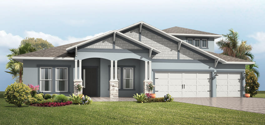 New Calgary Single Family Home Henley in Shawnee Park, located at 4093 Epic Cove, Land O' Lakes Built By Cardel Homes Calgary