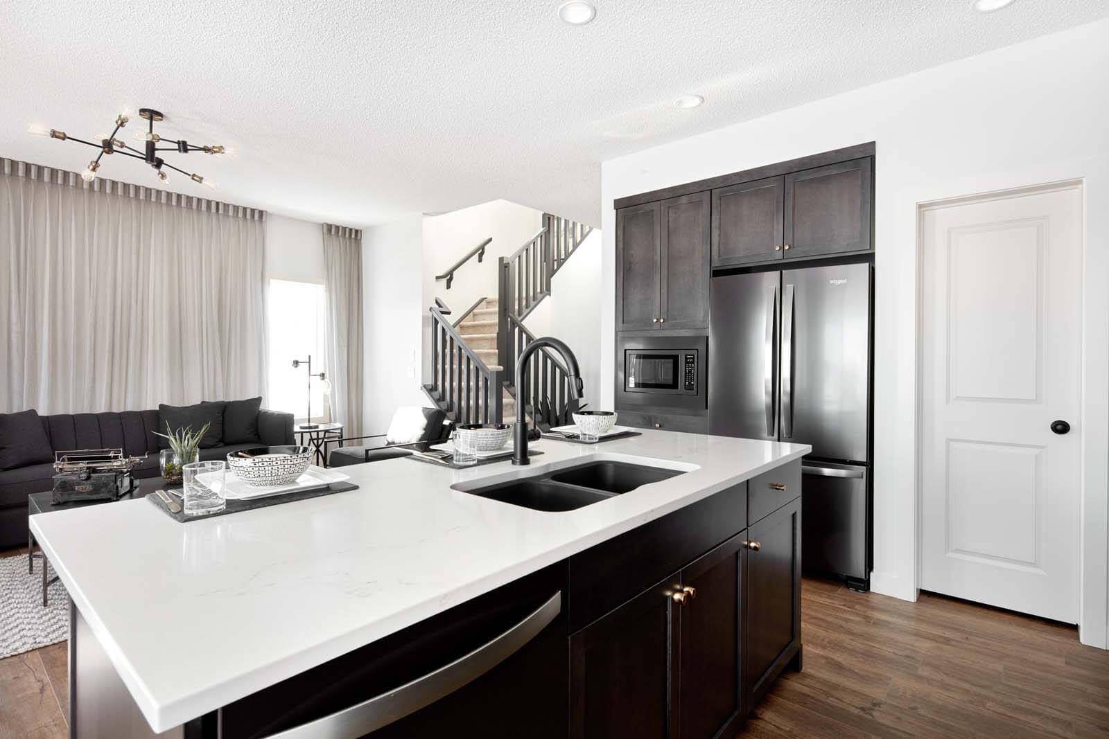 New Calgary  Model Home Rohan 1 in Savanna, located at 6 Savanna Gardens NE Built By Cardel Homes Calgary
