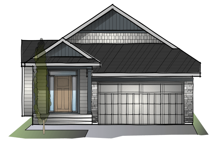 SP-CYPRESS-SP-CRAFTSMAN-S1 Elevation - 1,568 sqft, 3 Bedroom, 3 Bathroom - Cardel Homes Calgary