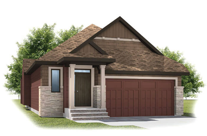 New home in CYPRESS in Shawnee Park, 1,568 SQFT, 3 Bedroom, 3 Bath, Starting at 720,000 - Cardel Homes Calgary