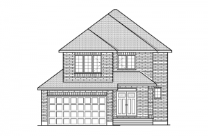 Briscoe - A2 Traditional Elevation - 2,134 sqft, 3 - 4 Bedroom, 2.5 Bathroom - Cardel Homes Ottawa