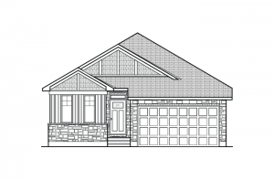 Cameron - A1 Canadiana Elevation - 1,535 sqft, 2 Bedroom, 2 Bathroom - Cardel Homes Ottawa