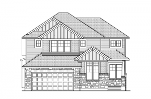 Cassidy - A1 Canadiana Elevation - 2,640 sqft, 3 Bedroom, 2.5 Bathroom - Cardel Homes Ottawa
