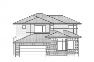 Cassidy - A3 Modern Urban Elevation - 2,640 sqft, 3 - 4 Bedroom, 2.5 Bathroom - Cardel Homes Ottawa
