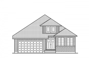Decker - A2 Traditional Elevation - 1,904 sqft, 2 Bedroom, 2 Bathroom - Cardel Homes Ottawa