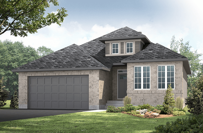 Bowland - A1 Canadiana Elevation - 1,644 sqft, 2 Bedroom, 2 Bathroom - Cardel Homes Ottawa