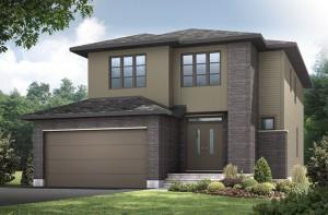 Briscoe - A3 Modern Urban Elevation - 2,134 sqft, 3 - 4 Bedroom, 2.5 Bathroom - Cardel Homes Ottawa