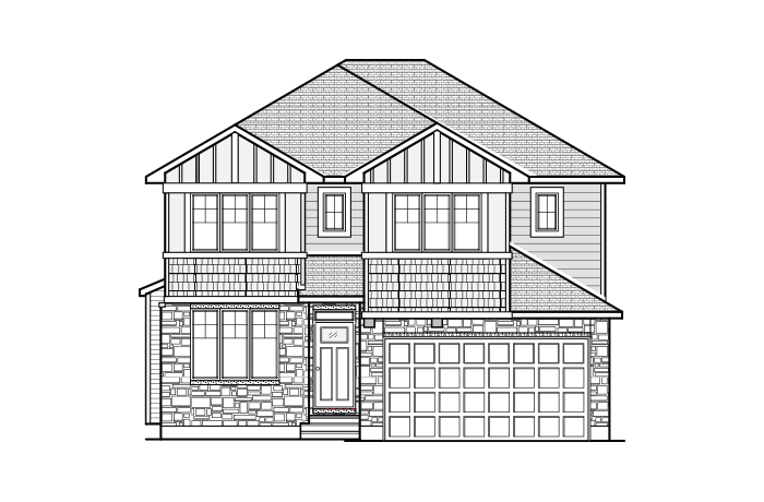 Lincoln - A1 Canadiana Elevation - 1,944 sqft, 3 - 4 Bedroom, 2.5 Bathroom - Cardel Homes Ottawa
