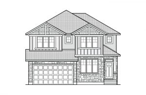 Nichols - A1 Canadiana Elevation - 2,456 sqft, 4 - 5 Bedroom, 2.5 - 3.5 Bathroom - Cardel Homes Ottawa