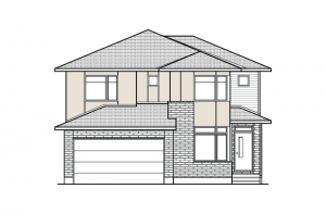 Nichols - A3 Modern Urban Elevation - 2,456 sqft, 4 - 5 Bedroom, 2.5 - 3.5 Bathroom - Cardel Homes Ottawa