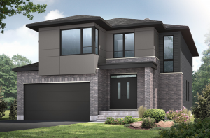 Bristol MC - A3 Modern Urban Elevation - 2,646 sqft, 4 Bedroom, 2.5 Bathroom - Cardel Homes Ottawa