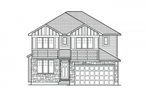 Cornell - A1 Canadiana Elevation - 2,130 sqft, 3 Bedroom, 2.5 Bathroom - Cardel Homes Ottawa