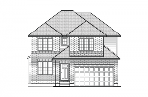 Cornell - A2 Traditional Elevation - 2,130 sqft, 3 Bedroom, 2.5 Bathroom - Cardel Homes Ottawa