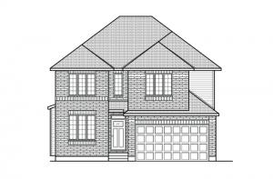 Durham - A2 Traditional Elevation - 2,294 sqft, 4 Bedroom, 2.5 Bathroom - Cardel Homes Ottawa